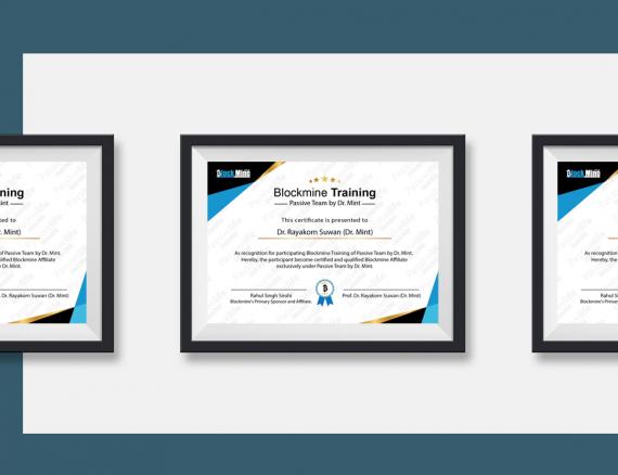 ออกแบบ Certificates สไตล์ Modern