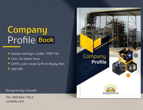 ออกแบบรูปเล่ม Company Profile AMK